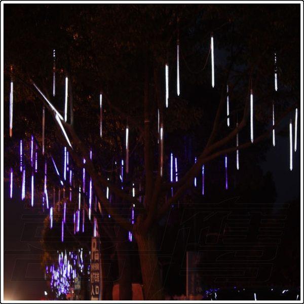 10 pcs/lot 80 cm extérieur paysage éclairage creux LED météore douche chute de neige pluie Tube lumières jardin mariage décoration guirlandes