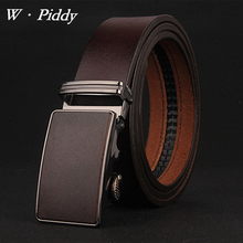 2017 New Arrival Men Genuine Leather Belt Cowhide Luxury Automatic Buckle Leather brand Strap male business leisure belts cinto