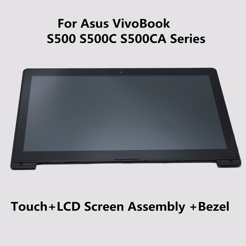 LCD Display + Touch Screen Digitizer + Frame Assembly For Asus VivoBook S500 S500C S500CA S500CA-US71T S500CA-RSI5T S500CA-DS51T