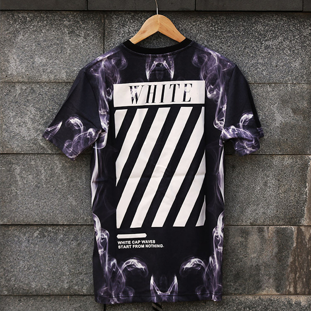 6e63a3361486f 2015 marcas hba Hip Hop Kanye West Virgil Abloh camiseta hombres ropa urbana  Swag Harajuku la
