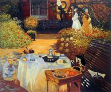 The Luncheon by Claude Monet Handpainted