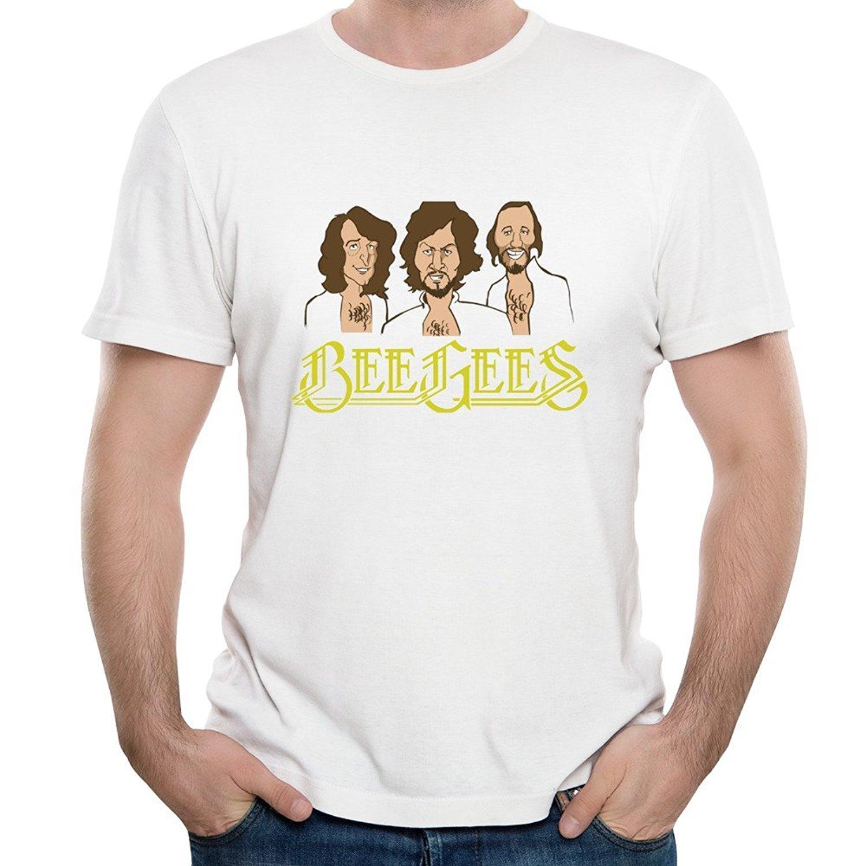 Männer Bee Gees Rock Band Album Eine Nacht Nur Short Sleeve Crew...