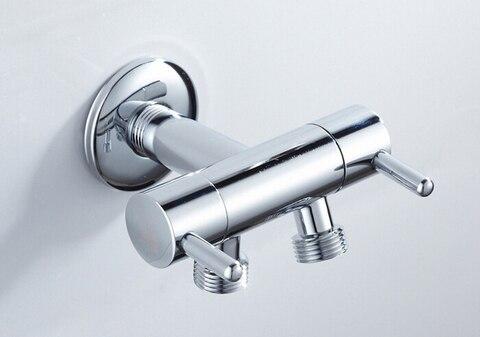 Único de Entrada Acessórios do Banheiro da Válvula de Três Válvula de Ângulo Via de Saída de Controle Latão Dupla Duplo Vias Bidé Bd234