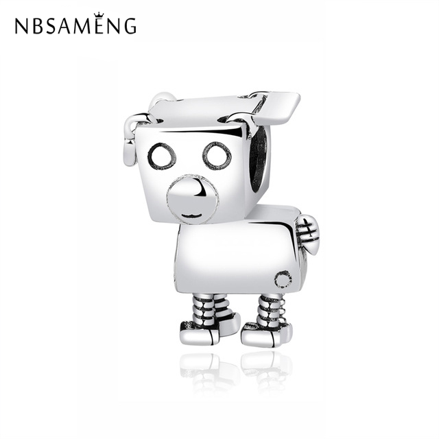 Jewelry & Accessories Kind-Hearted Nbsameng 925 Sterling Silver Bead Love Pet Robot Dog Beads Pendant Charm Fit Original Pandora Bracelets Diy Jewelry Beads