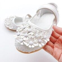 Girls Baby Shoes Elegant Flower Princess Girl Embroidered 2019 Spring Summer Children Barefoot Mesh Kid Flat Sandals