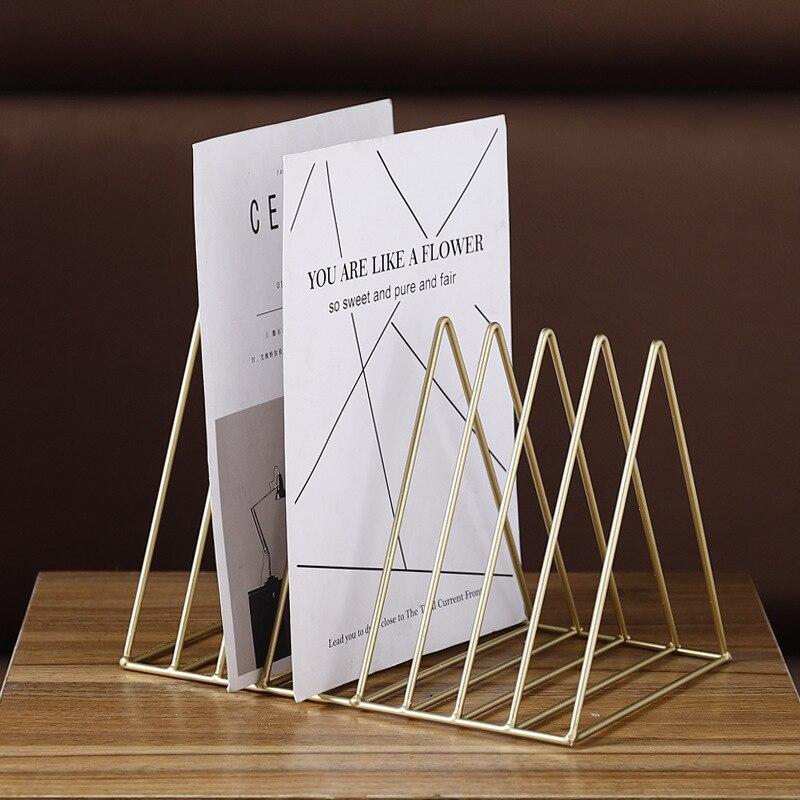 26*17.8*18.5 cm étagère en métal nordique porte-livres porte-revues étagère organisateur de bureau décoration de la maison 2018 nouveau Rack de stockage