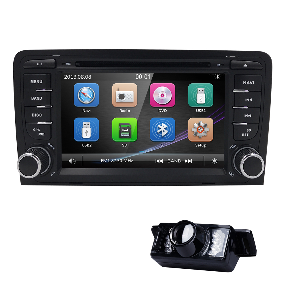 2019 7Inch Car DVD Radio Player for AUDI A3 2003-2011 S3 RS3 navigation RDS Mirror link  Bluetooth USB Free camera 8 GB Map card2019 7Inch Car DVD Radio Player for AUDI A3 2003-2011 S3 RS3 navigation RDS Mirror link  Bluetooth USB Free camera 8 GB Map card