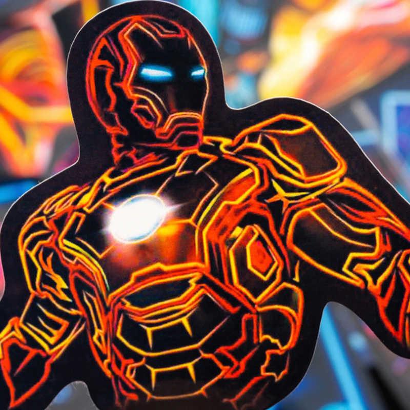 30 Pcs Neon Marvel Super Hero Avengers Stiker Skateboard Lemari Es Telepon Gitar Motor Bagasi PVC Tahan Air Stiker