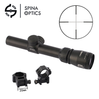 SPINA OPTICS 1.5 5X20 Riflescope Mil dot Reticle Hunting Scope Optical Sight for Airsoft with mounts NEW