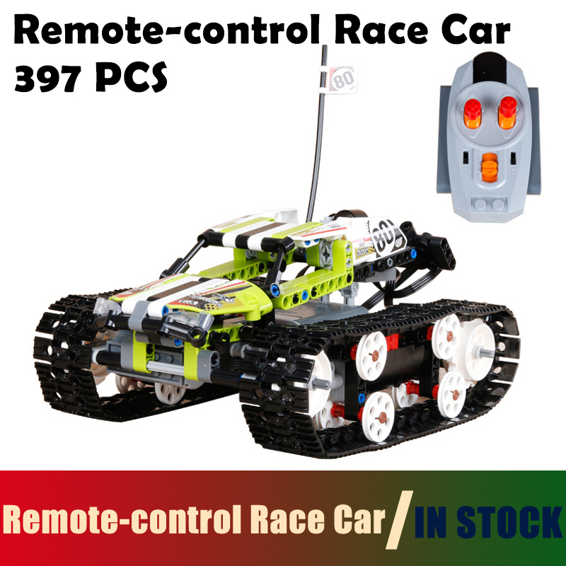 Track Remote-control Race Car building blocks Bricks toys for children Compatible with Lego Technic 42065 model 20033 1347pcs RC inflatable zorb ball race track pvc go kart racing track for sporting party