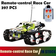 Трек Пульт дистанционного управления Раса Строительные блоки для автомобилей Кирпичи для детей Совместимость с Lego Technic 42065 модель 20033 1347pcs RC