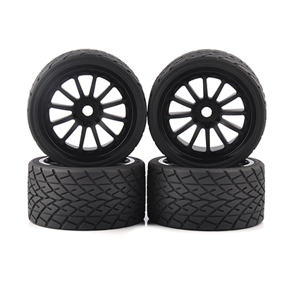 1 8 On Road Bigfoot Wheels Tires Rims 17mm Hex 4pcs set for 1 8 RC Model On Road Car 26412 in Parts Accessories from Toys Hobbies