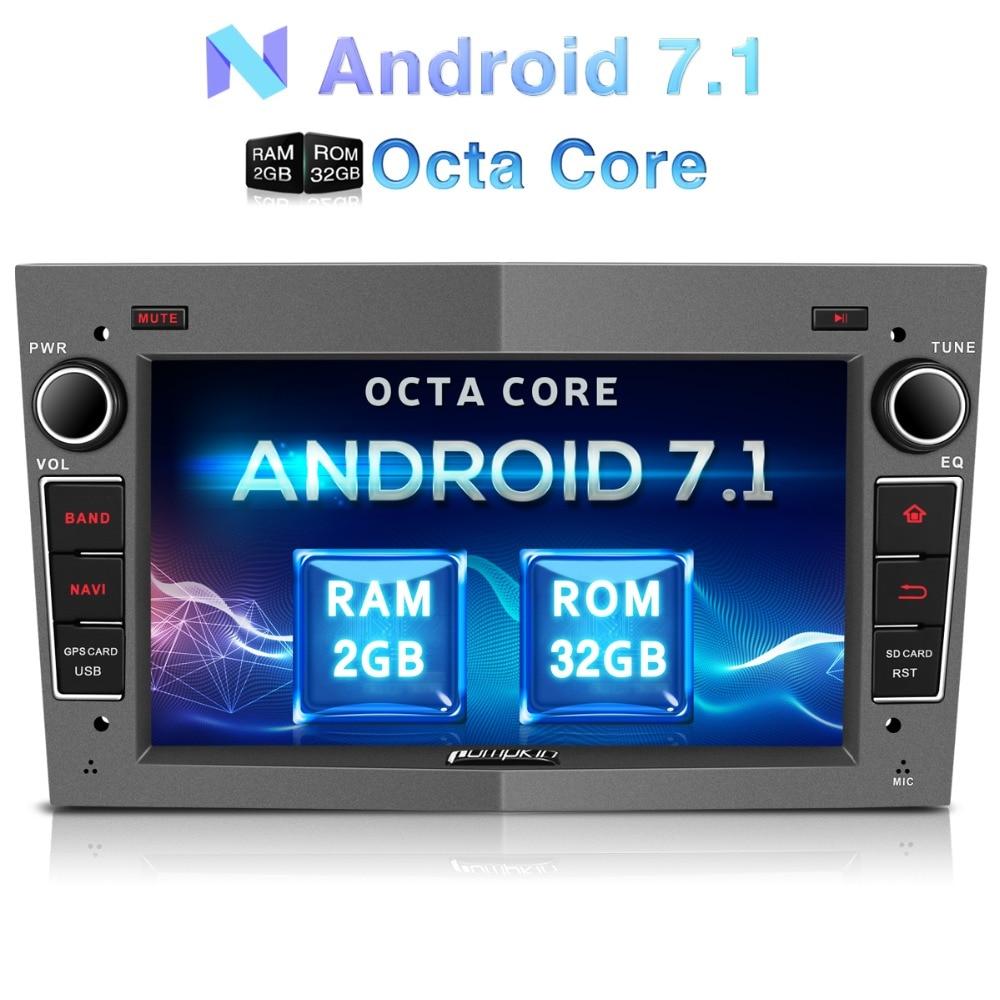 Citrouille 2 Din Android 7.1 Voiture Multimédia No DVD Lecteur GPS Navigation Bluetooth Autoradio Pour Opel/Corsa Wifi FM Radio Headunit