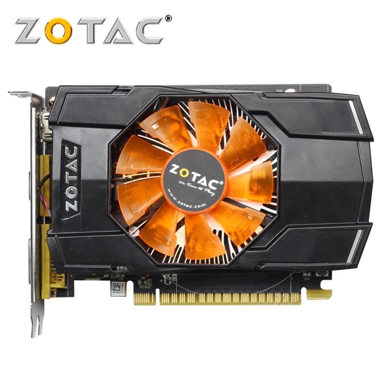 Carte graphique ZOTAC GeForce GTX 750 Ti 1 GB 128Bit GDDR5 1GD5 cartes graphiques pour carte originale nVIDIA GTX750Ti-1GD5 Hdmi Dvi VGA