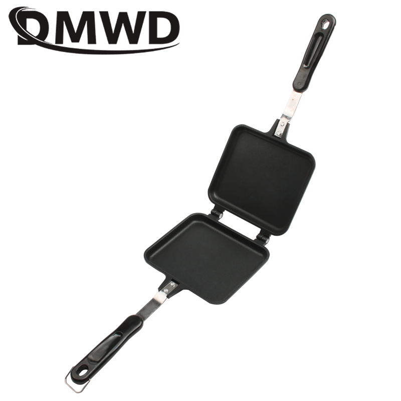 DMWD Gas Non-Stick Sandwich Maker Iron Bread Toast Breakfast Machine Waffle Pancake Baking Barbecue Oven Mold Grill Frying Pan
