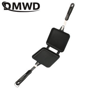 DMWD Gas Non-Stick Sandwich Maker Iron Bread Toast Breakfast Machine Waffle Pancake Baking Barbecue Oven Mold Grill Frying Pan(China)