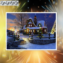 5D DIY full Diamond Painting Snow Scenery Cross Stitch