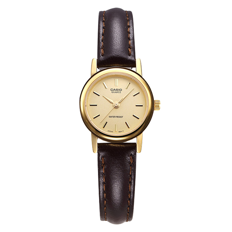 Casio Watch Brown Simple Vintage Quartz Women's Watch LTP-1095Q-9A