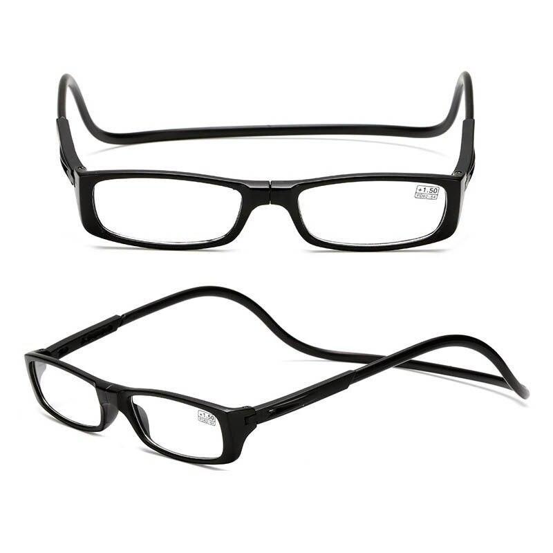 Unisex Eyeglass Magnetic Reading Glasses Men Women presbyopic Adjustable Hanging Neck Folding Glasses Front Magnetic Connect