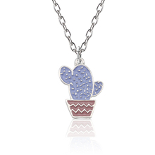 The Cactus Pendant Necklace Simple Style Plant For Women Girl Kids Fashion Jewelry Accessories Drop Shipping