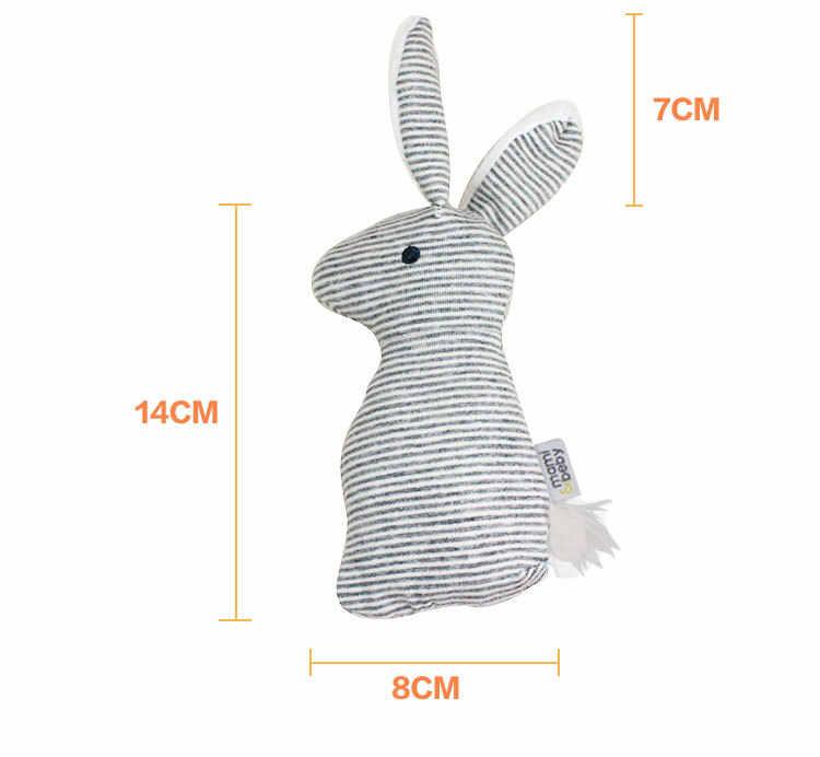 Nuovo arriva il bambino giocattolo 0-1 anni carino coniglio cogliere BB bastone Del Bambino Peluche A Mano giocattoli newbron Animali campane a mano BF11