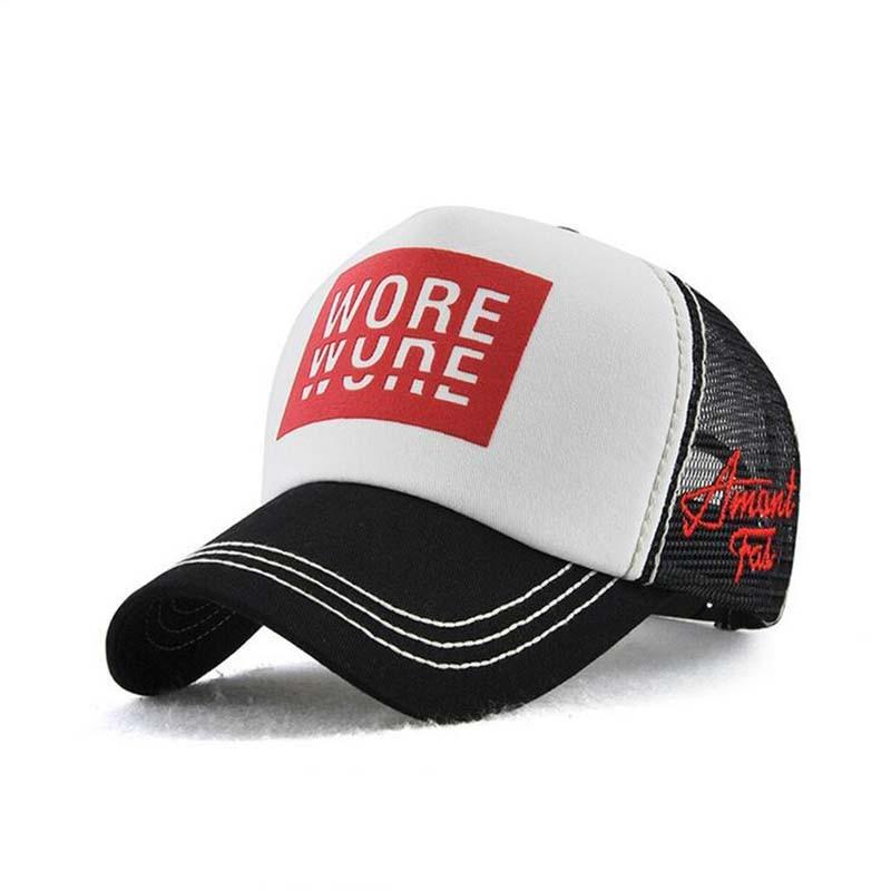 New Fashion Black Baseball Cap Mesh Andas Tryck Patchwork Mössor - Kläder tillbehör - Foto 2