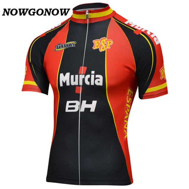 custom classic national spain team red black Cycling Jersey men Retro Clothing  Bike Wear road mountain Maillot Ropa Ciclismo b0413e11d