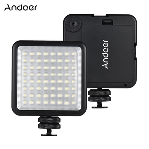 Image 1 - Светодиодная мини лампа Andoer для камеры, осветительная панель с регулируемой яркостью для видеокамер Canon, Nikon, Sony, Panasonic, Olympus, Godox, 64 светодиода