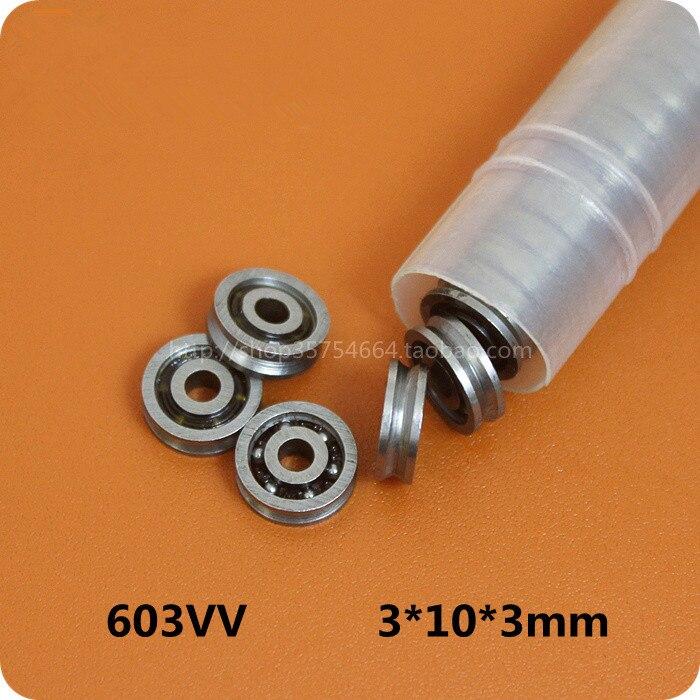 Fixmee 10 шт. HCS Mini 3x10x3 мм Глубокий V паз шкив колеса ролик 603VV шариковые подшипники Шлепанцы      АлиЭкспресс