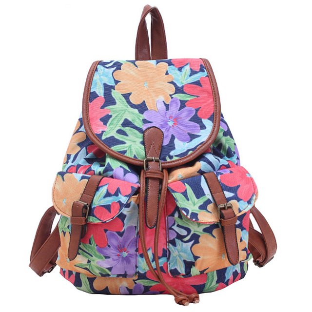 71835f1b0f National Women Canvas Drawstring Backpack Newest Vintage Floral College  Students School Bagpack Girls Mochila Feminina Sack Bags