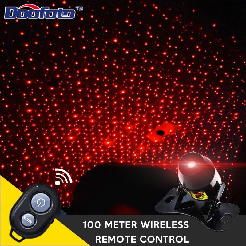 Doofoto Car Styling Outdoor Laser Lighting Christmas Lights Disco Laser Light Stage Star Lighting Effect Car Interior Decoration