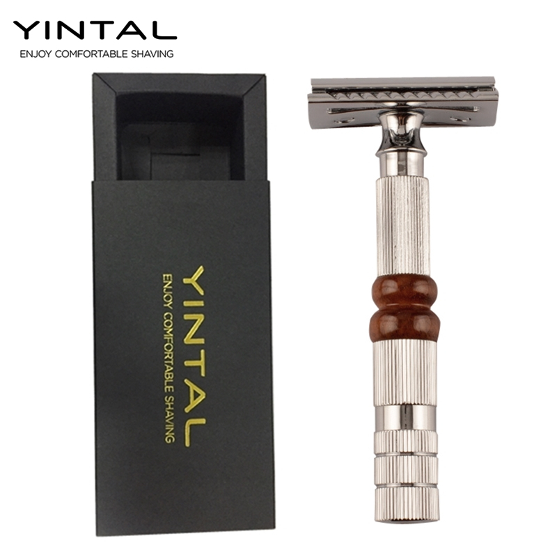 YINTAL NEW 1 Razor 10 Blades Classic Men Razors For Shaving Safety Razor Manual Double Edge Razor