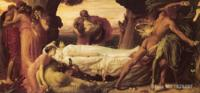 Art Painting by Frederic Leighton Hercules Wrestling with Death for the Body of Alcestis High Quality Hand painted