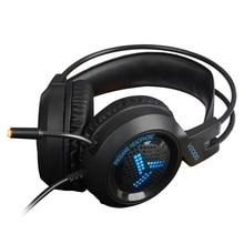 цены Computer Gaming headphones Headset headband E-sports headphone with Microphone heavy bass LED light casque audio