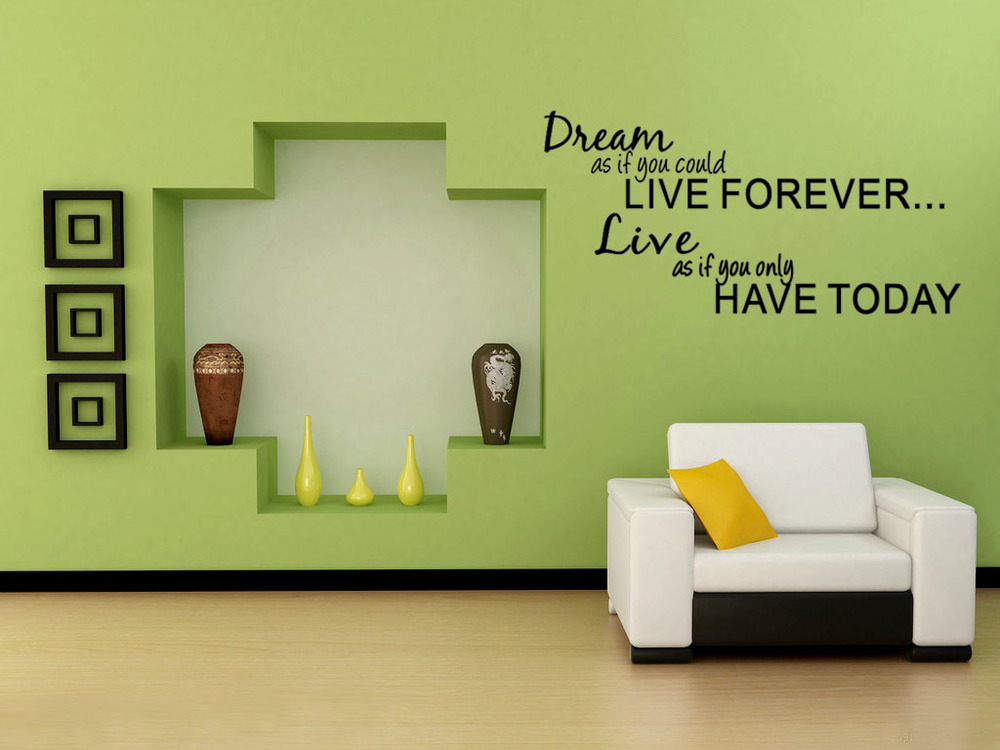 Wall decal quote wall lettering art words wall sticker home decor wallpaper decoration free - Home decoration pics ...