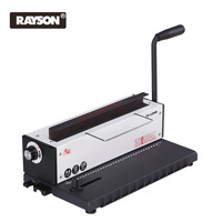 Rayson Wire Binding Machine Metal Twin Coil Manual Paper Punch Manual Binding 34 Square Holes Metal