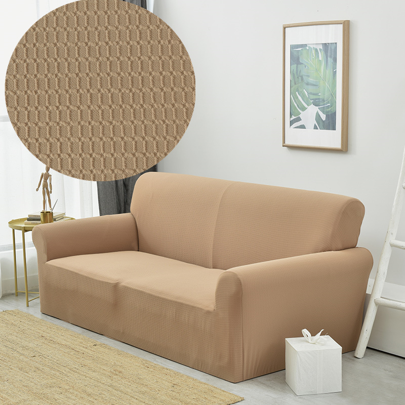 Modern Elastic Solid Furniture Covers Plaid Sectional