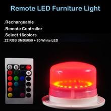 1 шт./лот) Супер яркая RGBW 4в1 разноцветная перезаряжаемая светодиодная мебельная подсветка под настольным освещением с пультом дистанционного управления