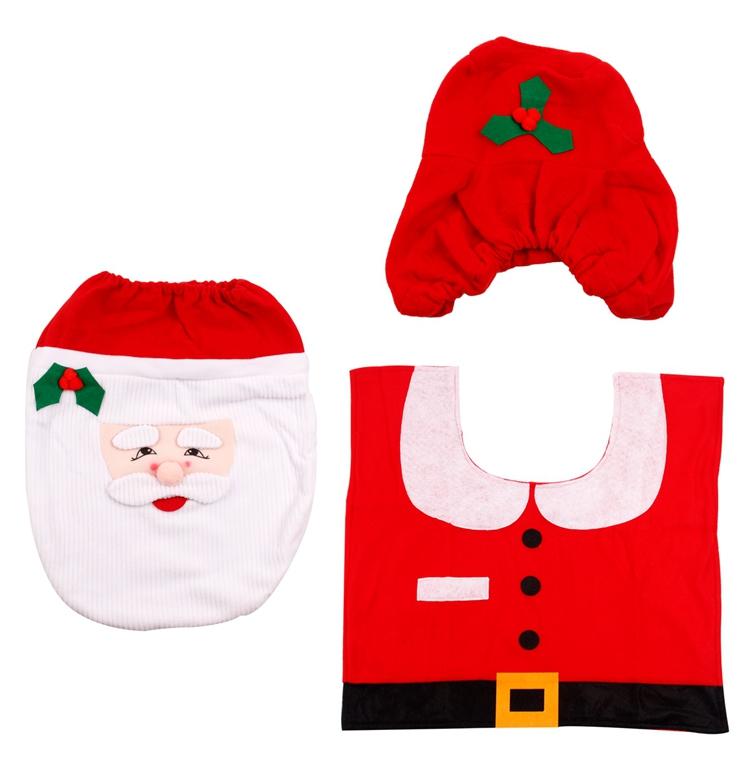 HTB1dQgpSFXXXXblXXXXq6xXFXXXi - FENGRISE Santa Claus Rug Toilet Seat Cover Christmas Decoration Fancy