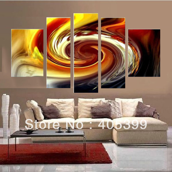 5pcs Bright Color Beautiful Modern Style 100% Modern Abstract Oil Painting on Canvas Wall Art for Home Decoration   JYJZ036