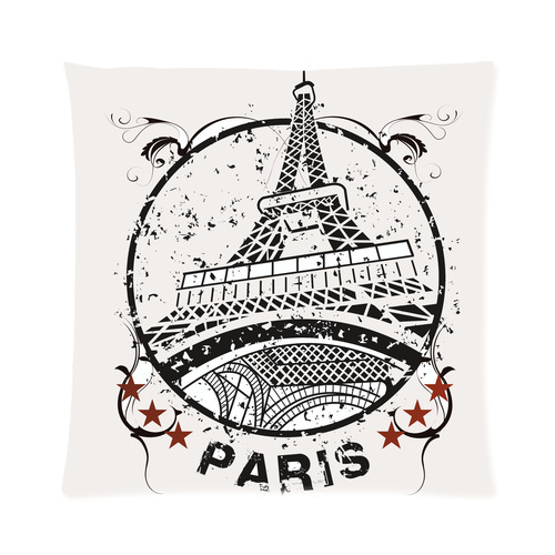 Paris Eiffel Tower Pillow 16 X 16: Nice Personalized Eiffel Tower In Paris With Stars Picture
