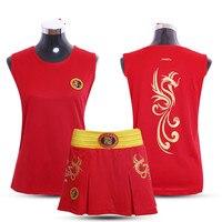 JDUanL Phoneix Kids Girls/Women Sanda Wushu MMA Boxing Short Skirts+T Shirts Martial Arts Muay Thai Uniforms Fight Outfits DCE