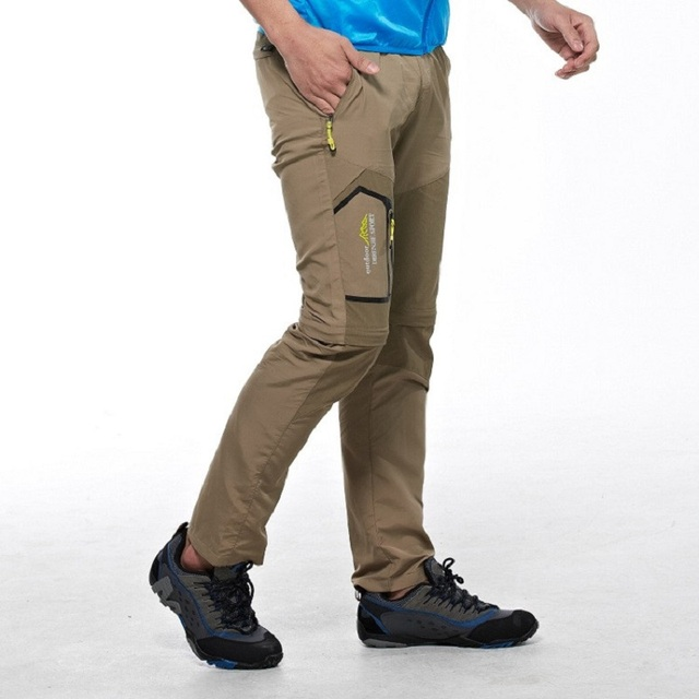 5XL Mens Summer Quick Dry Removable Pants Outdoor Brand Cloting Male Breathable Shorts Men Hiking Camping Trekking Trousers A009 4
