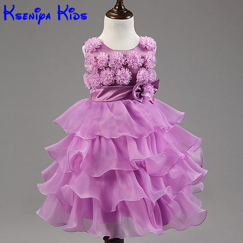 2016 Summer new Baby Kids Toddler Tutu Tulle Flower Girl Fashion Party Dress For Wedding American Princess Dresses For Toddlers girls dress 2017 new summer flower kids party dresses for wedding children s princess girl evening prom toddler beading clothes