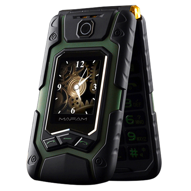 MAFAM Land Flip Cell Rover X9 Dual Screen GPRS Touch Screen Dual Sim Card Call FM Long Standby Cellphone Cell Mobile Phone P008