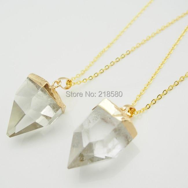 C150101007 Граненое сердце кулон кристалл кварц кулон для уха ожерелье
