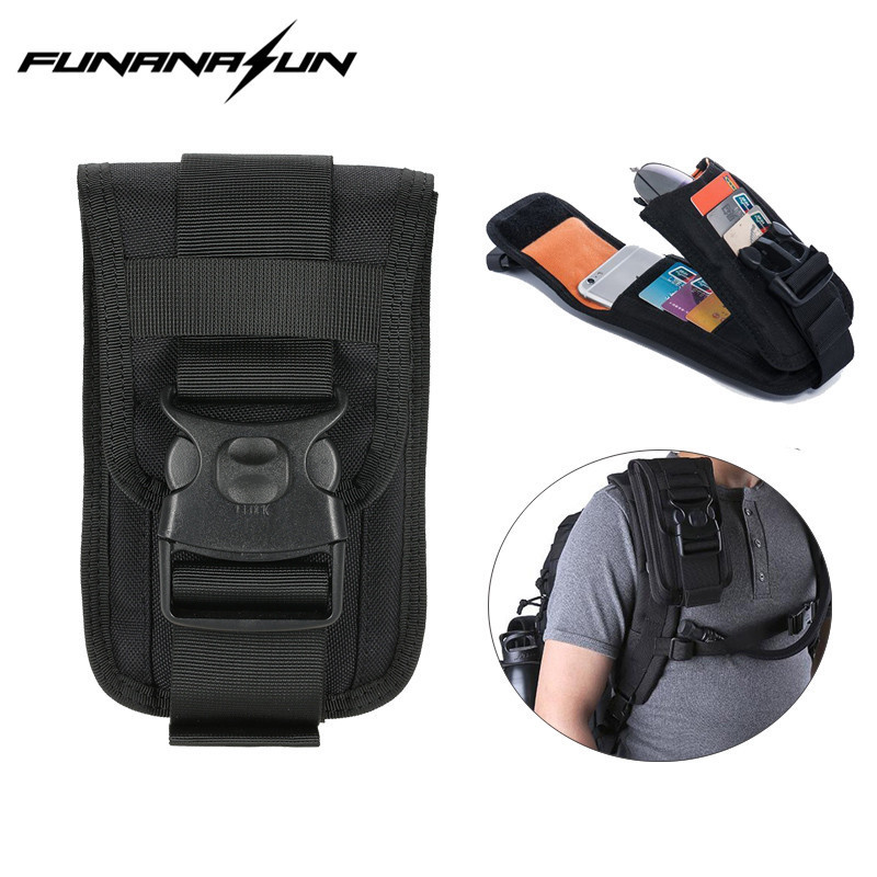 Compact Nylon Molle Pouch Small EDC Utility Gadget Cellphone Pouch Waist Belt Clip Pouch Holster tactical molle pouch cell phone case belt clip holster edc utility gadget 1000d nylon men waist bag outdoor gear black