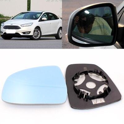 Pour Ford Focus grande vision miroir bleu anti-éblouissement voiture rétroviseur chauffage modifié grand angle réfléchissant lentille de recul