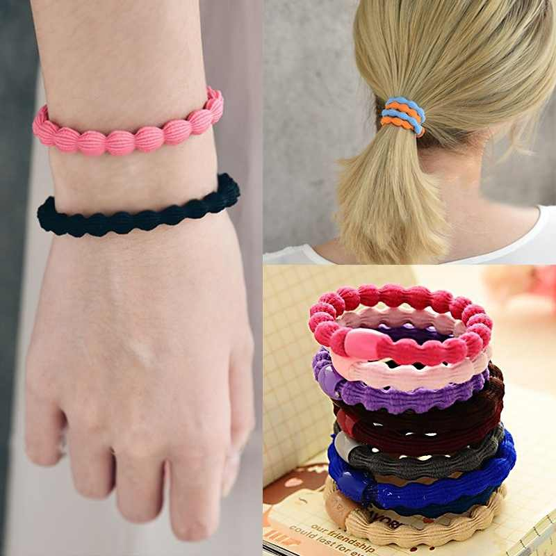 Root Lotus Hair Rope Color Candy Accessories Elastic 3 Ring Hair Hair Pcs Hair Tie Sale
