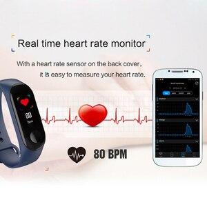 Image 5 - 3 צבעים כושר צמיד דם לחץ חיצוני IPS מסך קצב לב צג חיים עמיד למים חכם Wristbands PK Mi Band 4